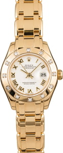 Ladies Rolex Pearlmaster 80318 Diamond Bezel