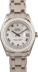 Rolex Pearlmaster 34 Ref 81339 Diamonds