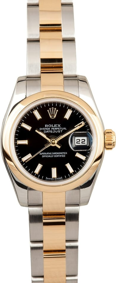 Rolex Ladies Two Tone Datejust 179163