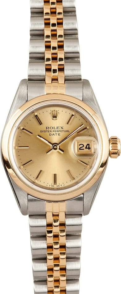 Ladies Rolex Oyster Perpetual 69163 Champage