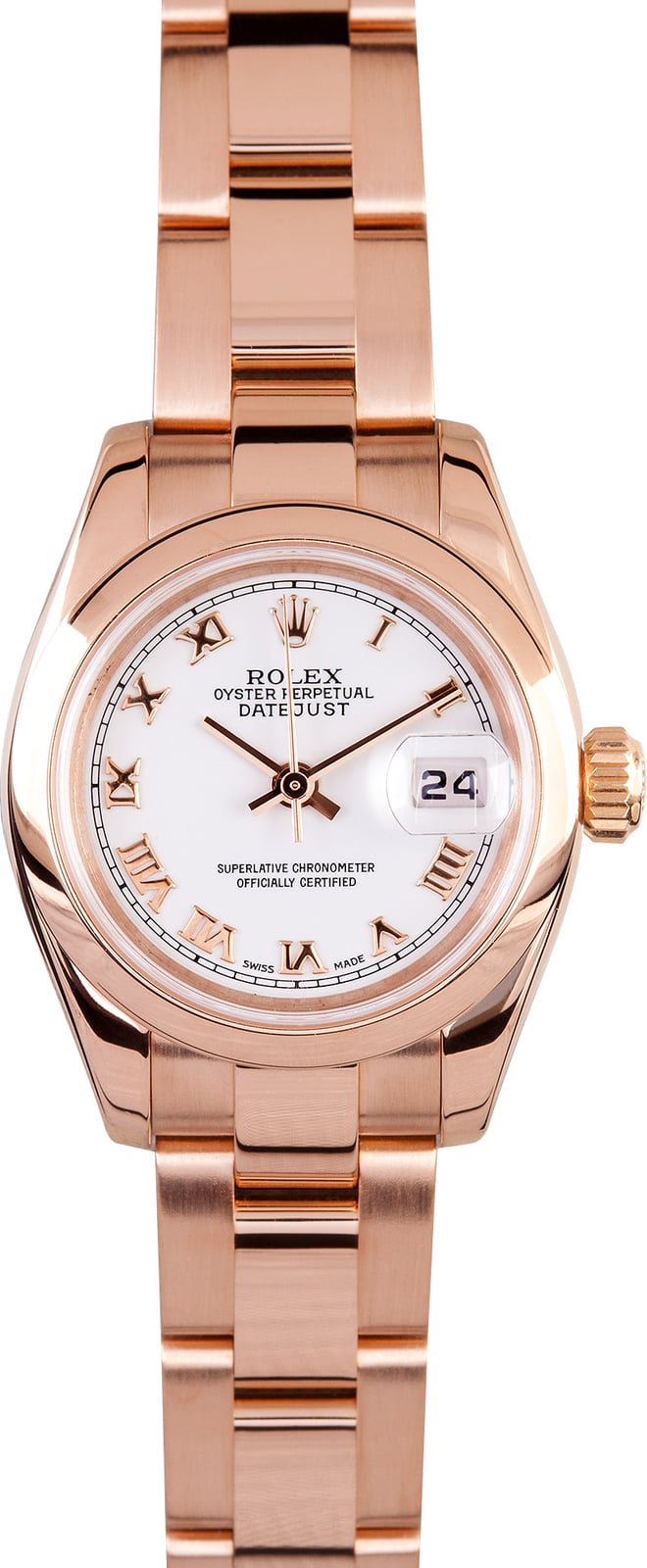 lady rolex datejust rose gold save at bobs watches
