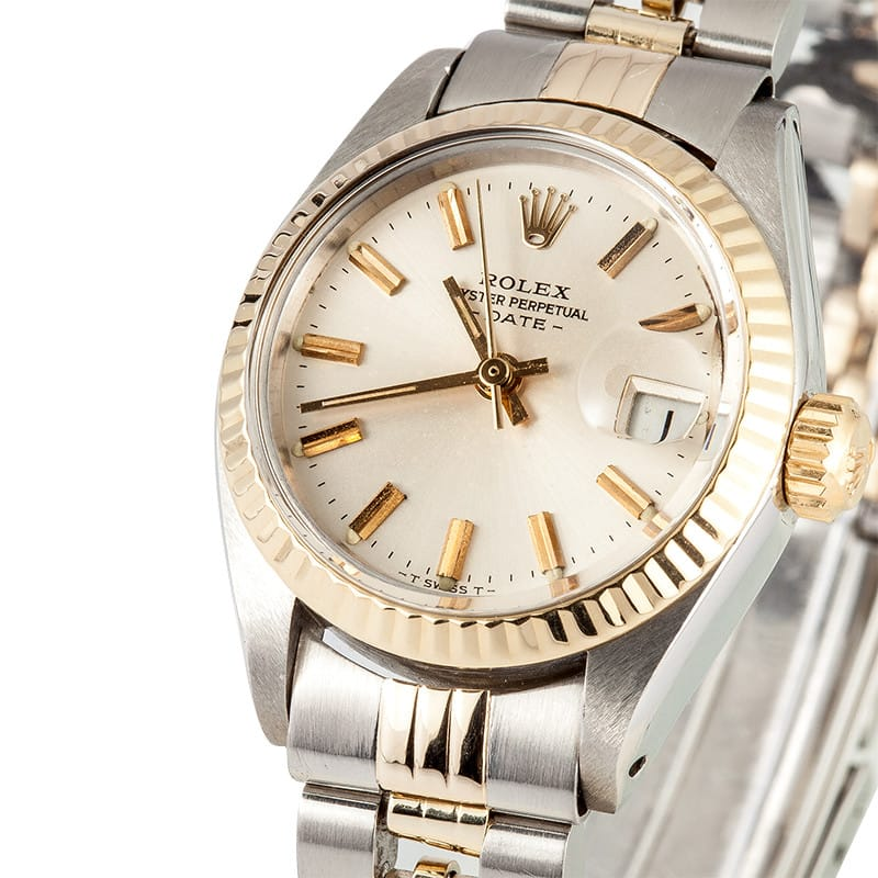d6e2bb81144 Ladies Rolex Date Oyster Perpetual Steel 6917 - 100% Authentic