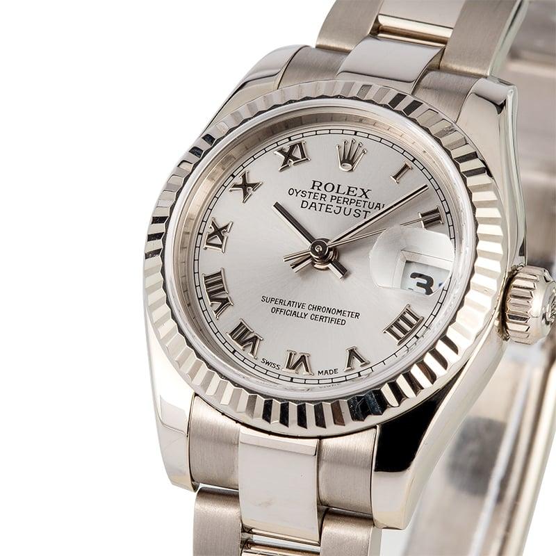 Ladies Rolex Datejust 179179 White Gold