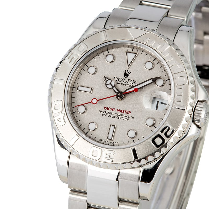 aafe6e760ff Rolex Yacht-master Mid-size Platinum 168622