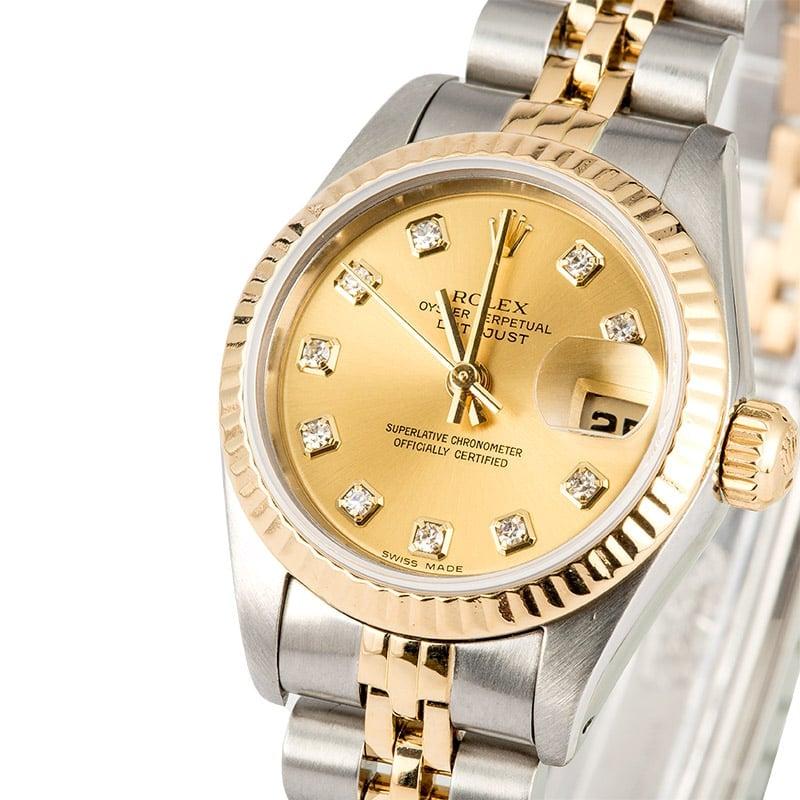 Lady-Datejust Rolex 69173 Diamond Dial