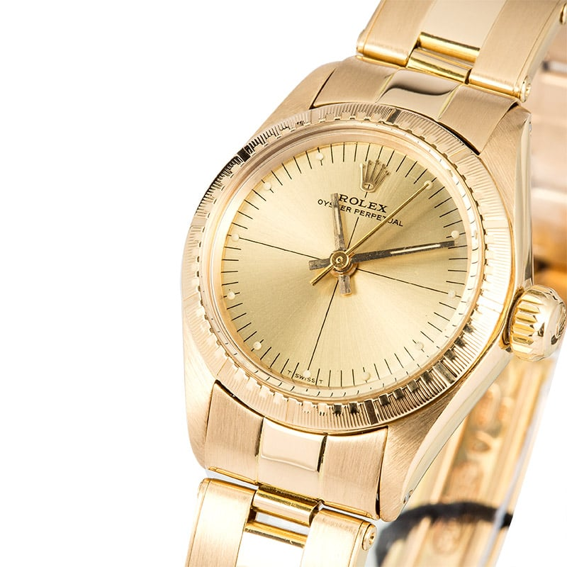 Rolex Ladies Oyster Perpetual 6724 Yellow Gold