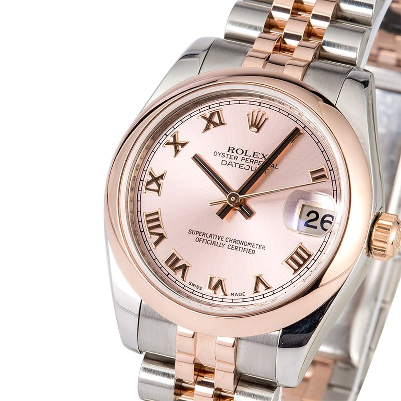 rolex midsize datejust 178241 rose gold
