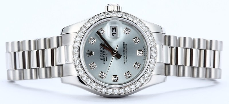 7a8ec1661ae Rolex Ladies President Platinum Diamond 179136