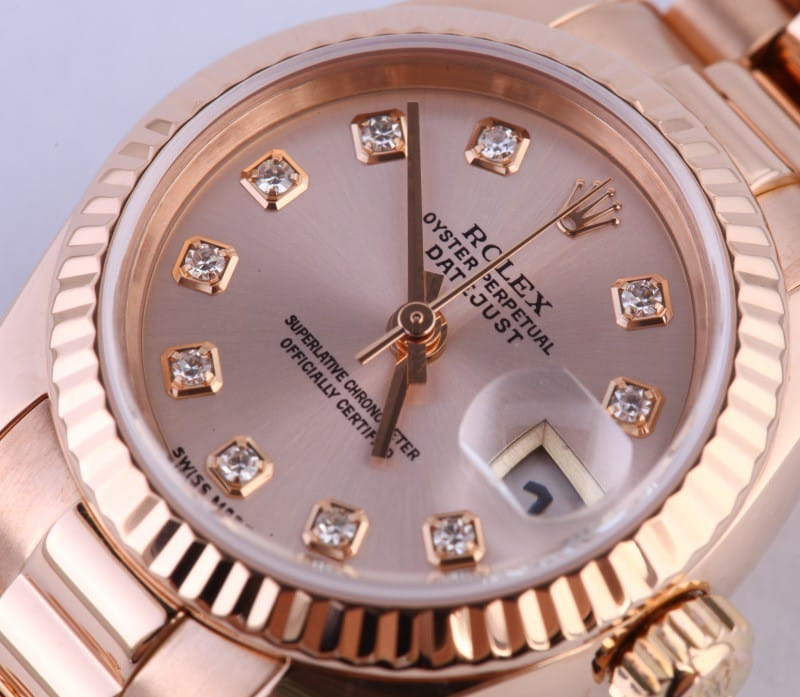 Pink Diamond Rolex Watch