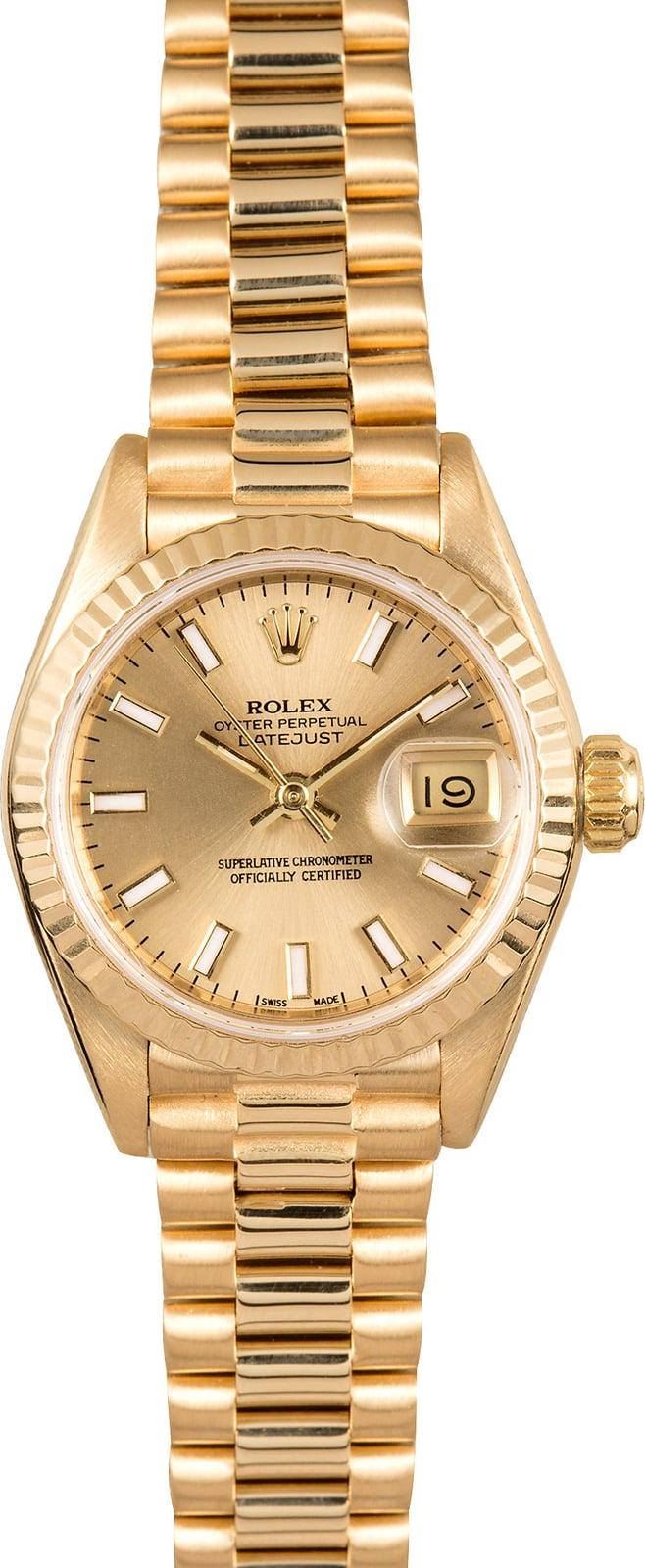Used Rolex Daytona >> Ladies Rolex Datejust 69178 Presidential