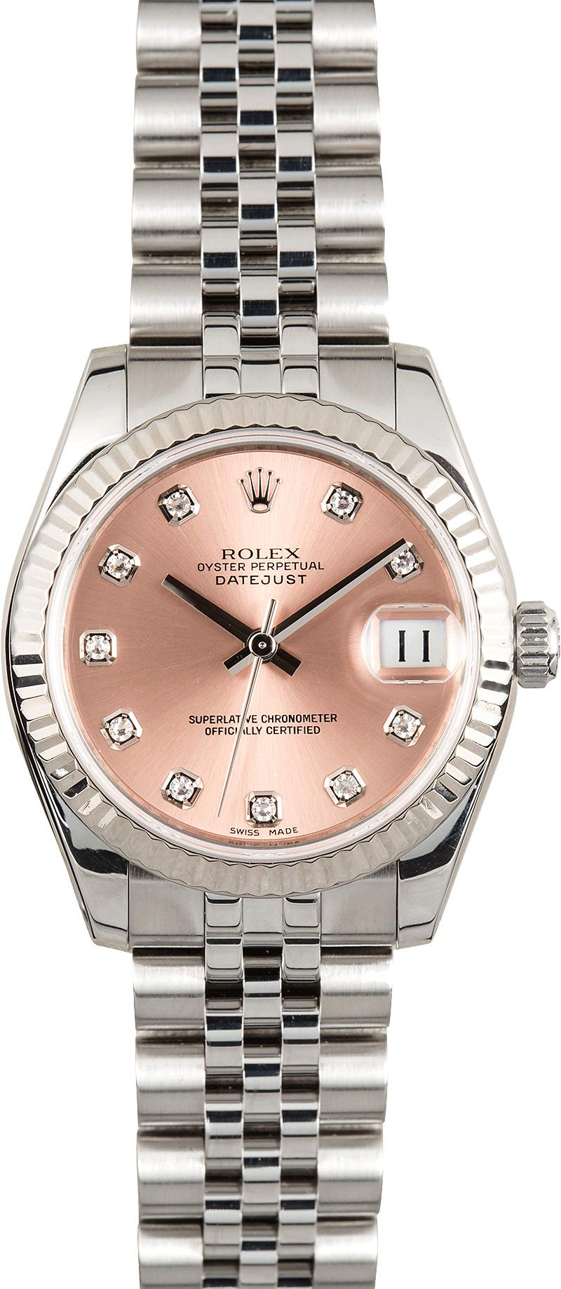 Rolex 31mm Datejust 178274 Pink Diamond