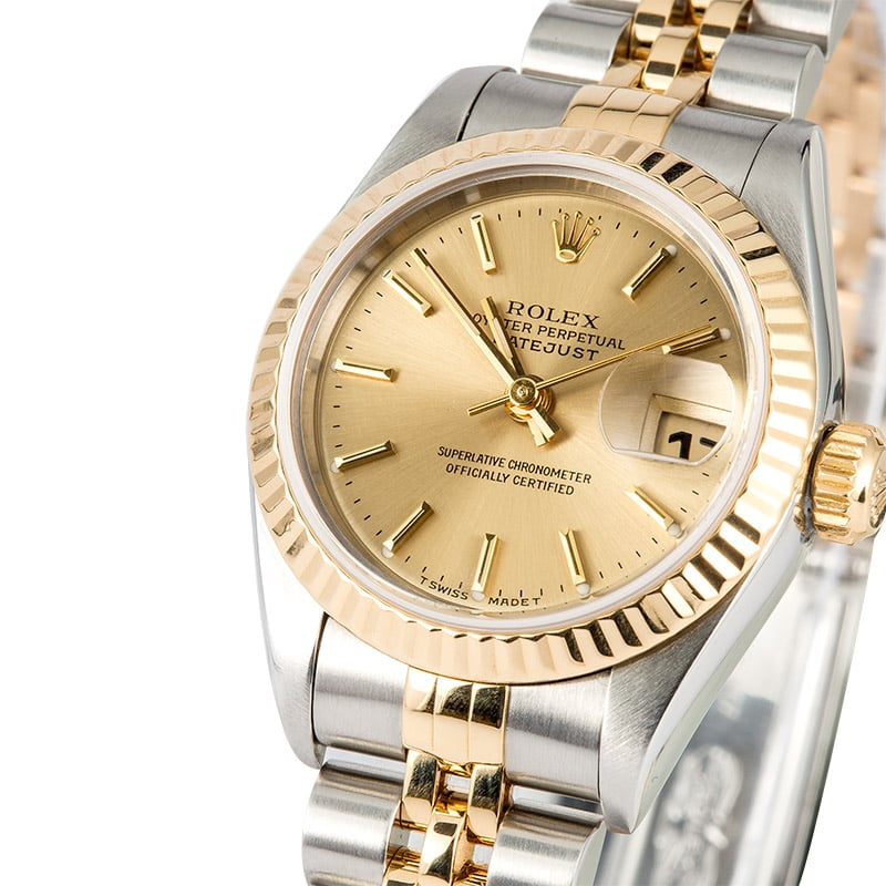 rolex two tone oyster perpetual ladies datejust. Black Bedroom Furniture Sets. Home Design Ideas