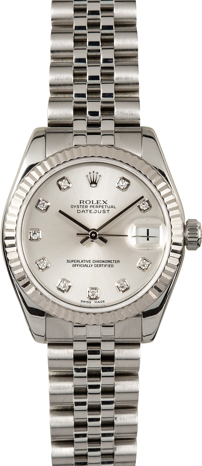 Rolex datejust 178274 diamond 31mm for Rolex date just 31