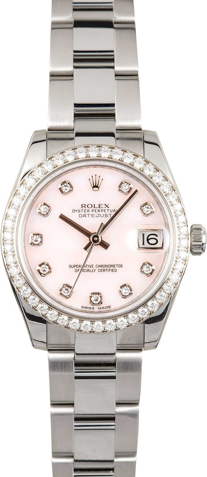 Rolex datejust 31 diamonds 178384 for Rolex date just 31