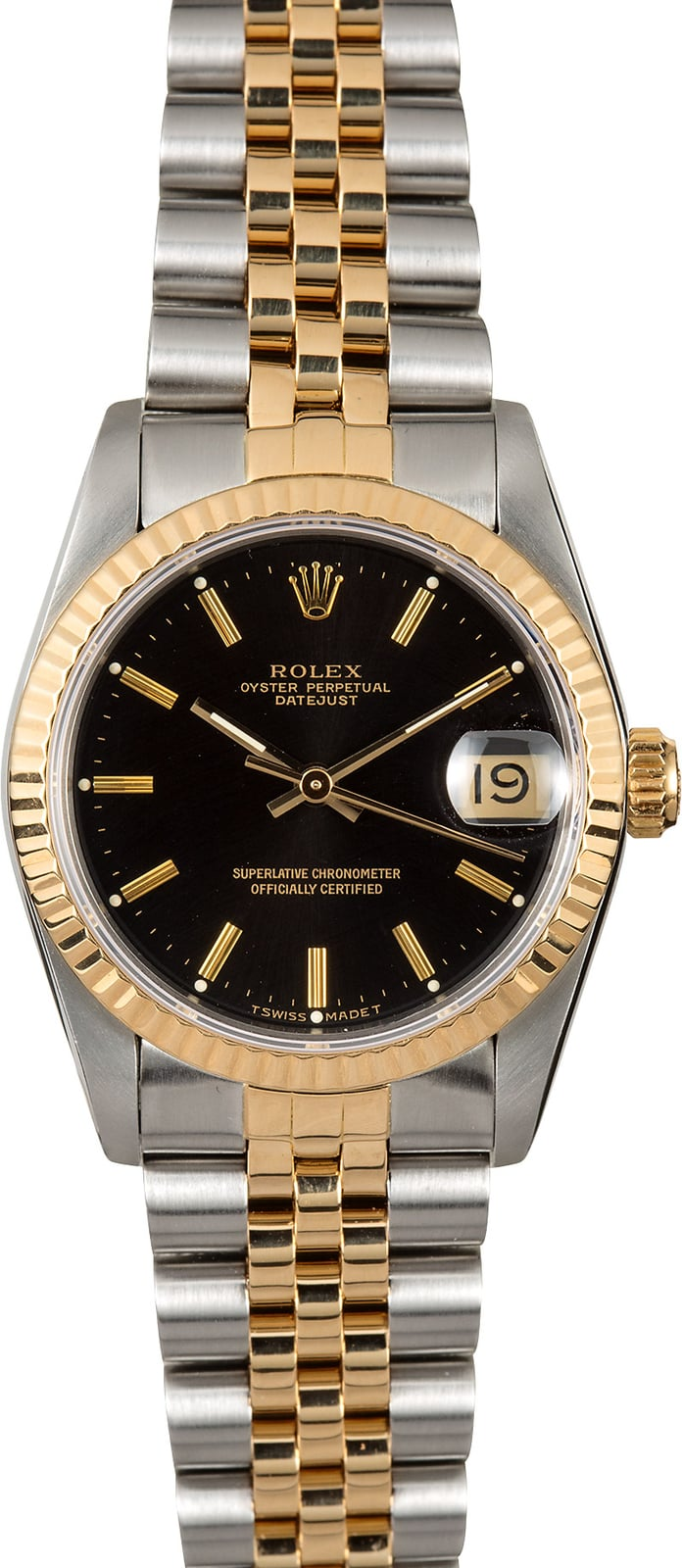 Rolex datejust 31 mid size 68273 black for Rolex date just 31