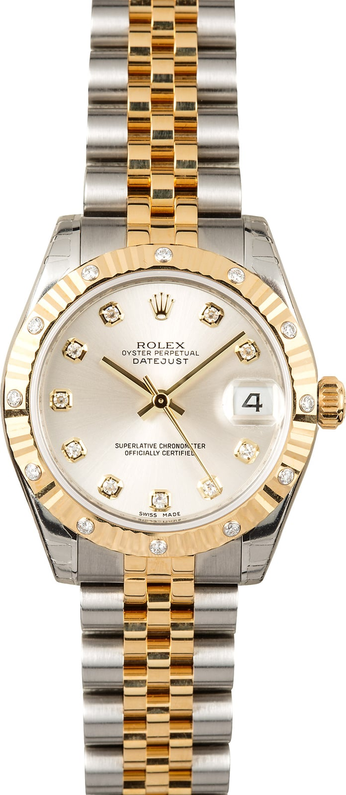 Rolex datejust 31mm diamonds 178273 for Rolex date just 31