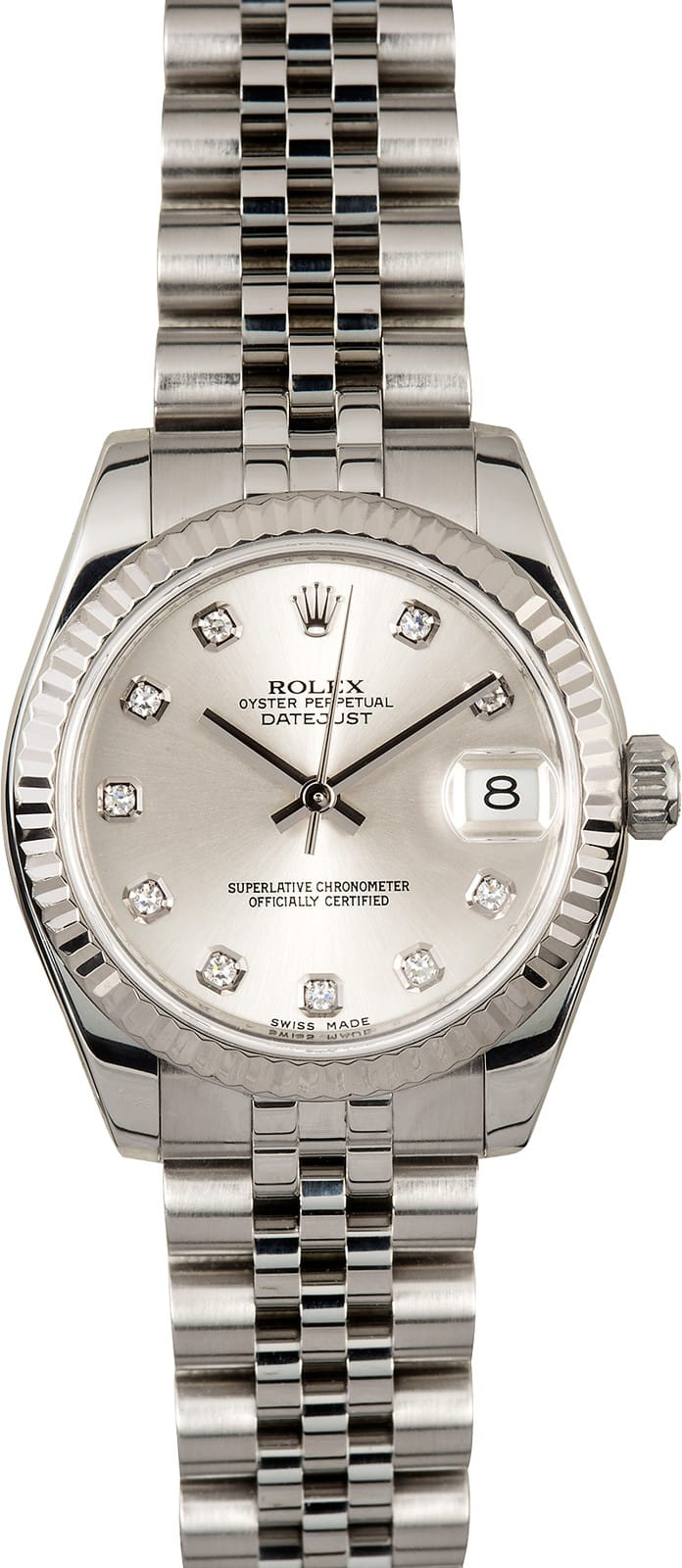 Used Rolex Submariner >> Rolex Datejust Mid-size 178274 Diamond Dial
