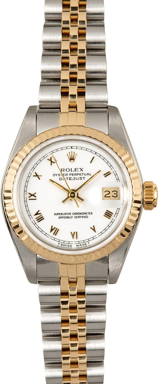 Rolex Ladies Datejust 69173 White Certified Pre