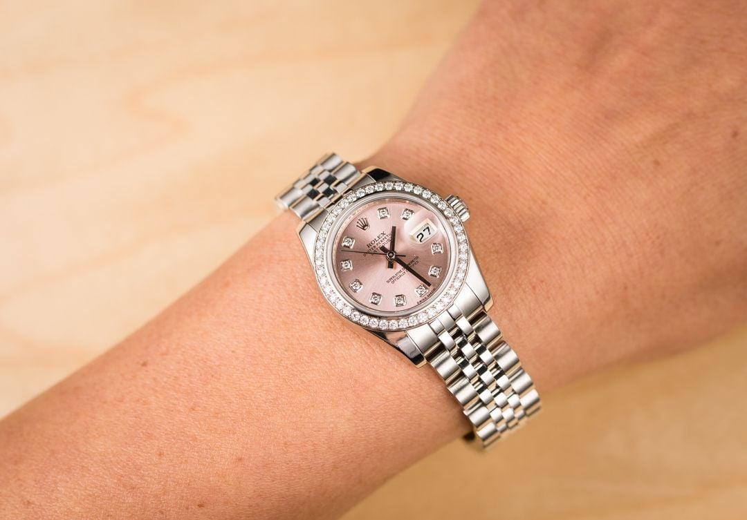 7e0eca62b21f8 Rolex Lady-Datejust 179384 Diamond Bezel