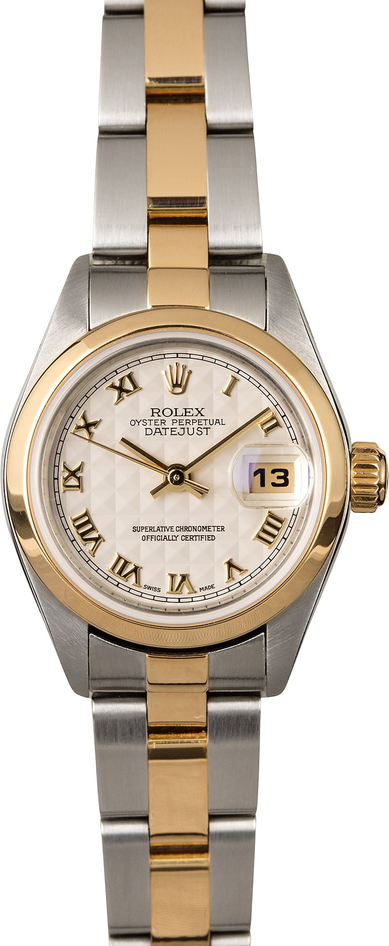 rolex lady datejust 79163 ivory pyramid dial. Black Bedroom Furniture Sets. Home Design Ideas