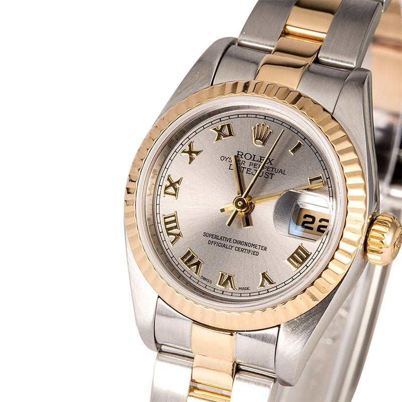 used ladies rolex oyster perpetual datejust watch 79173 save at bob 39 s watches. Black Bedroom Furniture Sets. Home Design Ideas