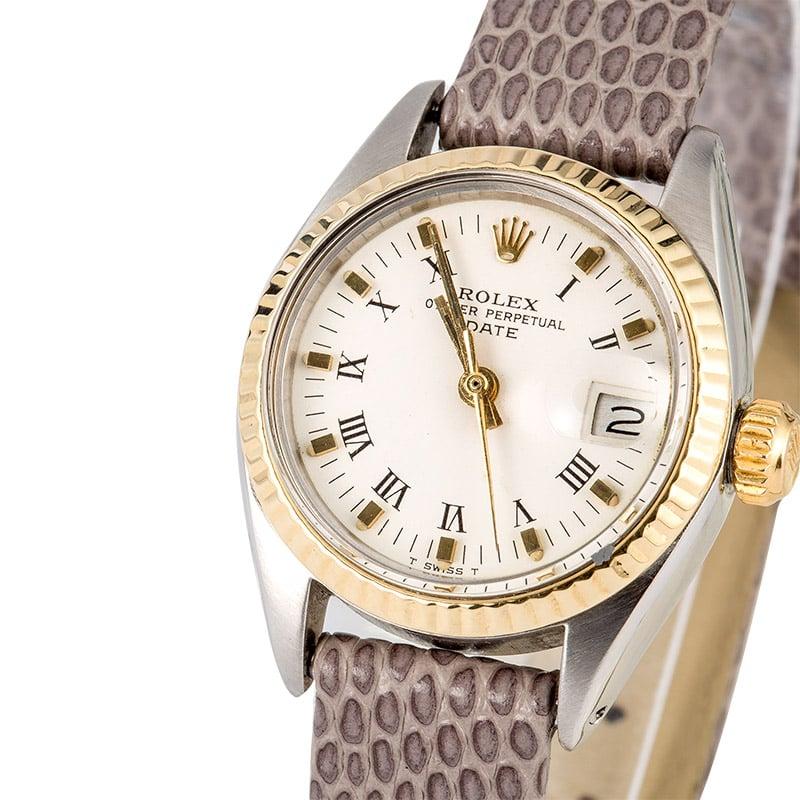 Rolex Ladies Datejust 6917 Leather Strap