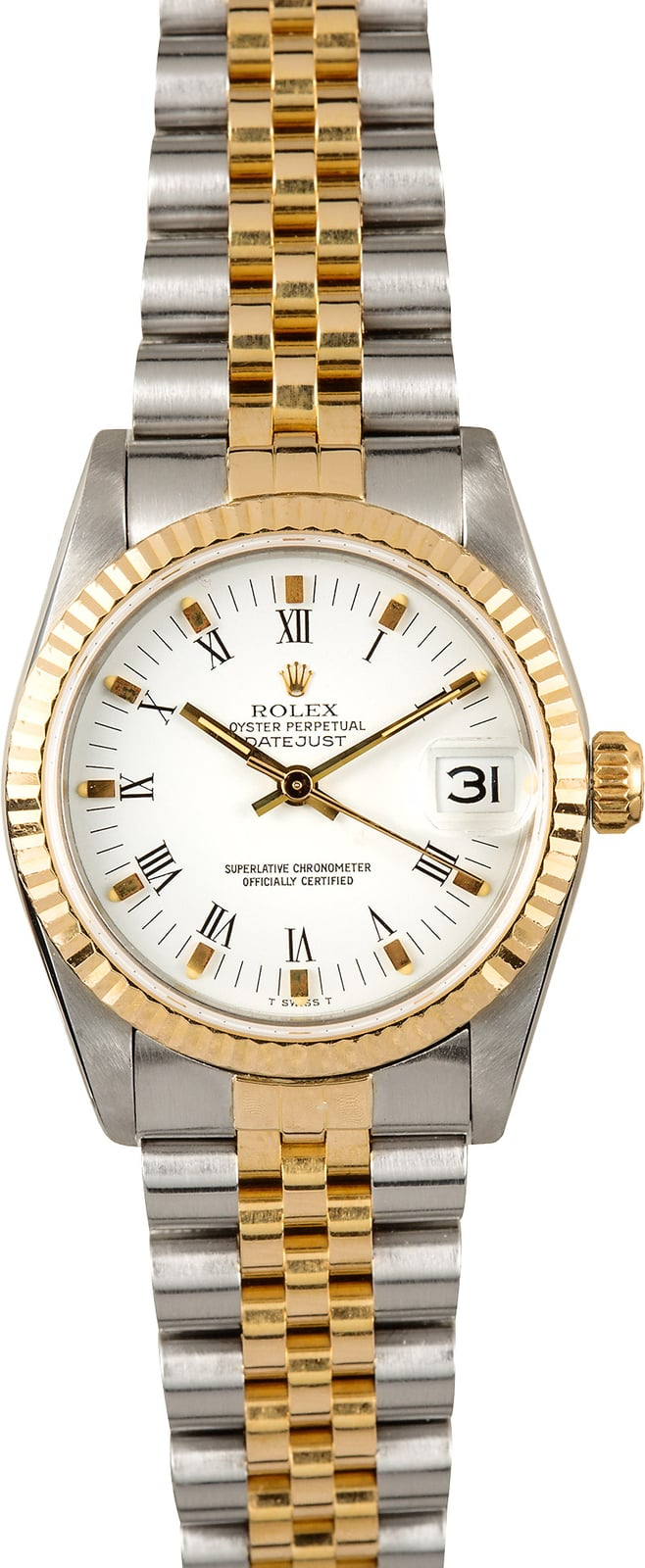 Rolex Mid Size Datejust 68273 Two Tone
