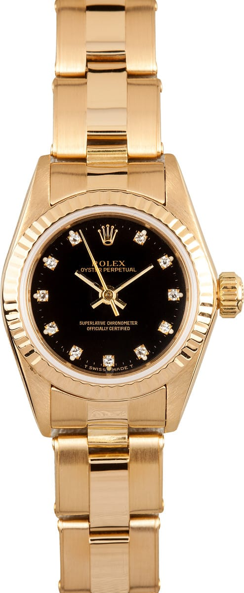 rolex lady oyster perpetual 18k gold get the best price. Black Bedroom Furniture Sets. Home Design Ideas