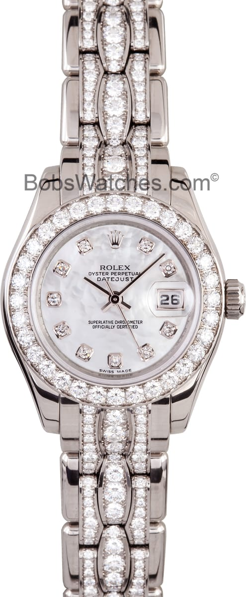Ladie 39 s rolex datejust pearlmaster 80299 get low prices guaranteed for Rolex pearlmaster