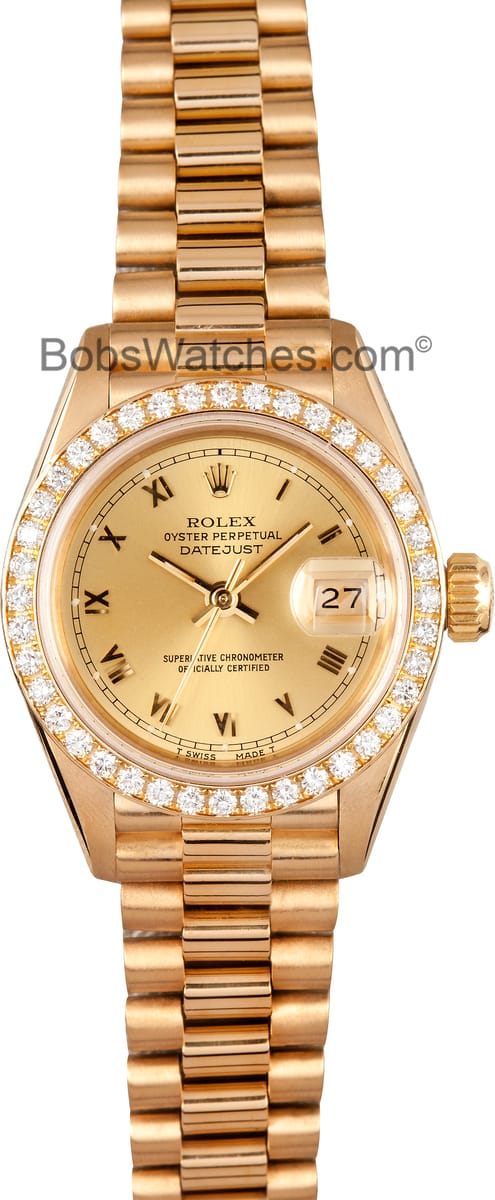 Bell And Ross Watch >> Ladies Rolex President 18k Gold - Save $1000's at Bob's ...