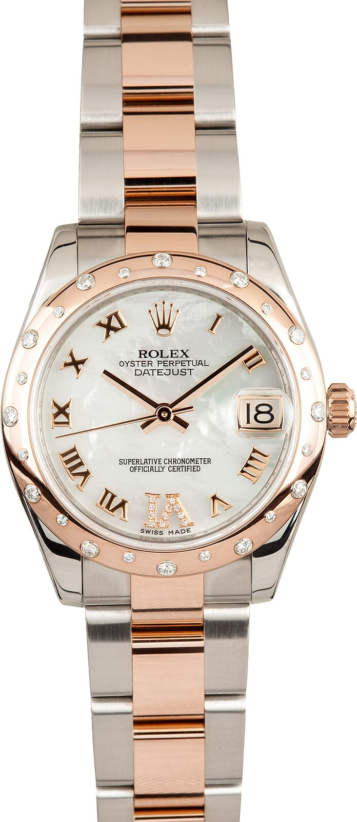 Used Rolex Daytona >> Lady Rolex Rose Gold Mid-Size 178341 - Save At Bob's Watches