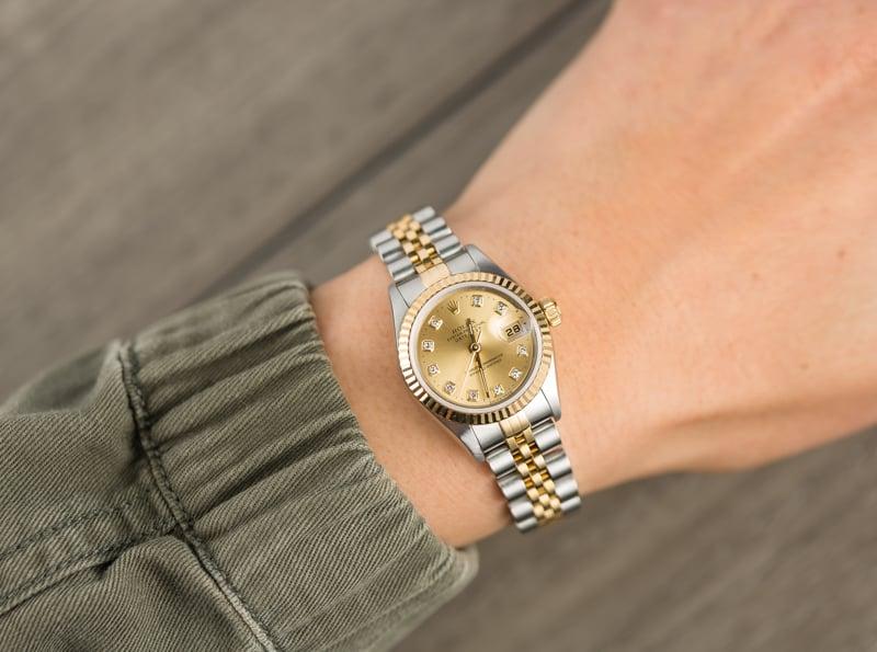 854066ba71d Rolex Lady Datejust 79173 Champagne Diamond Dial