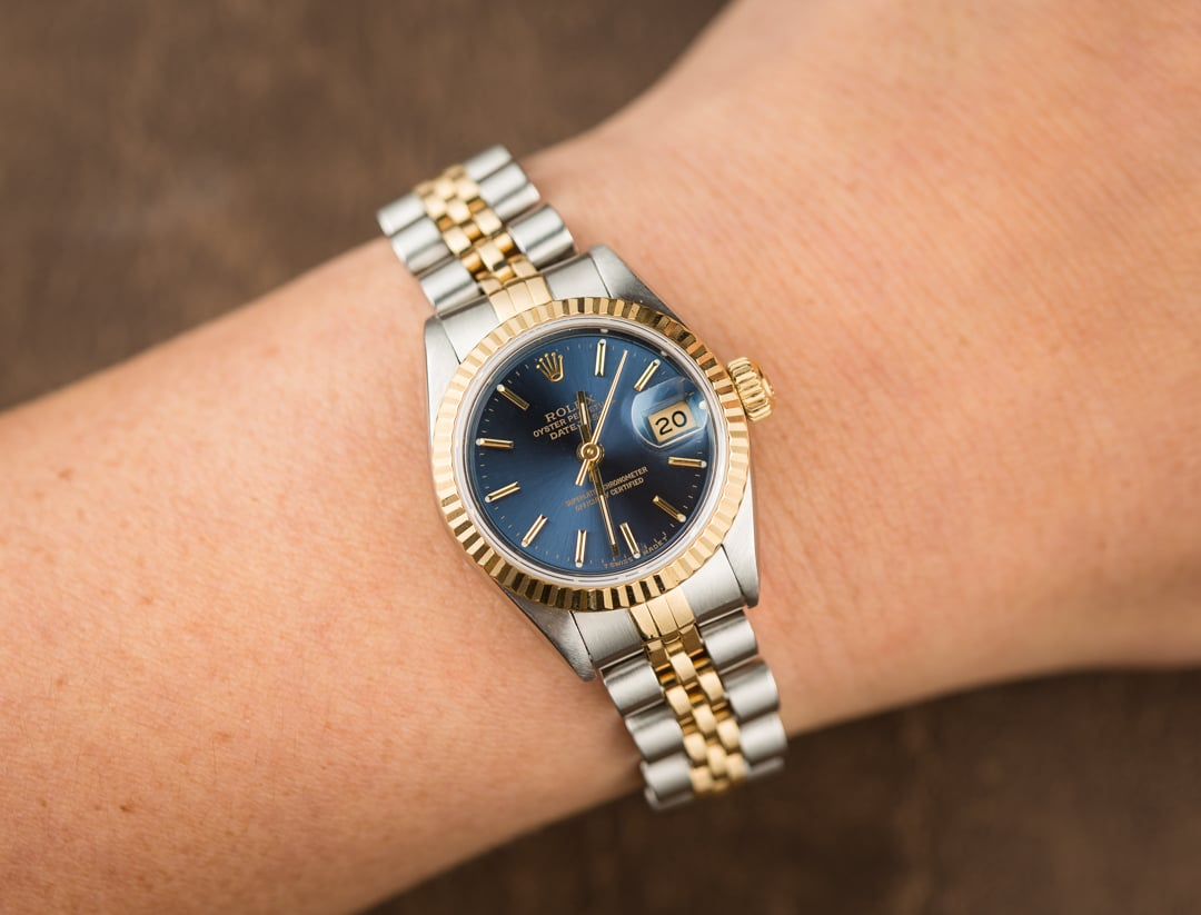 Used Rolex Submariner >> Rolex Lady Datejust 69173 Blue Dial