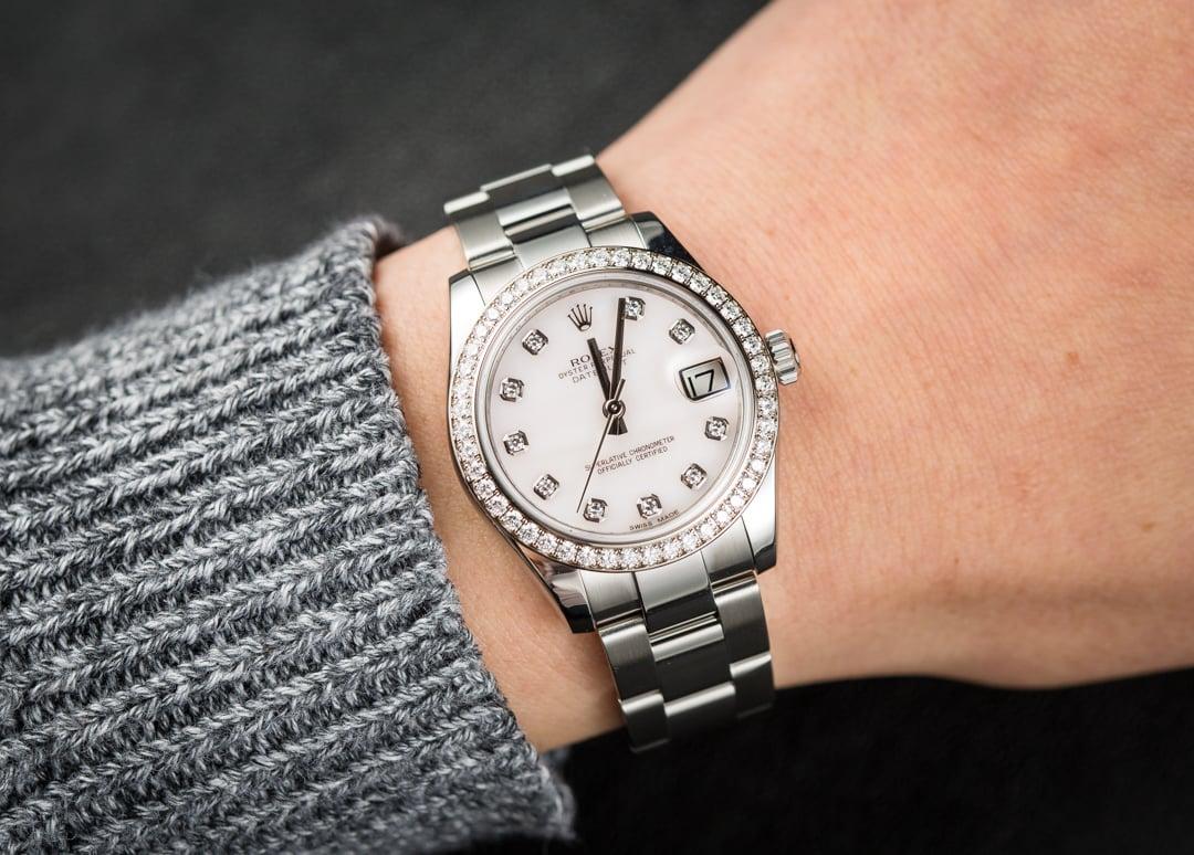 rolex datejust 31 diamonds 178384
