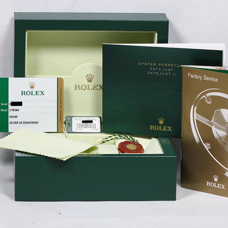 Mid,Size Rolex Datejust 178384 Diamond Dial \u0026 Bezel