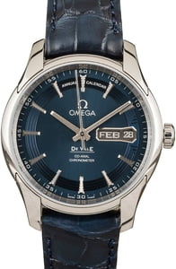 Omega De Ville Stainless Steel Blue Index Dial