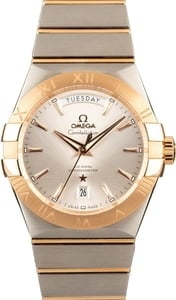 New Omega Constellation Two Tone Silver Dial