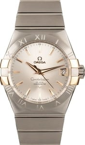 Omega Constellation Steel & Red Gold Silver Dial