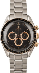 PreOwned Limited Edition Omega Speedmaster Moonwatch Red Gold on Steel