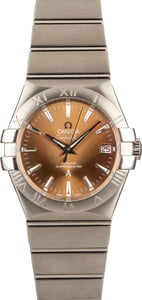 New Omega Constellation Stainless Steel Bronze Dial