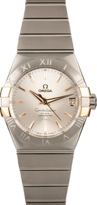 New Omega Constellation Steel & Red Gold Silver Dial