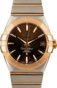 Omega Constellation Steel & Red Gold