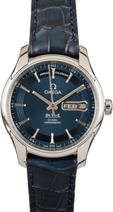 New Omega De Ville Stainless Steel Blue Index Dial