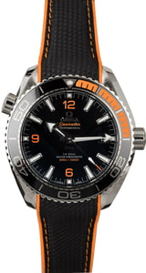 Unworn Omega Seamaster Planet Ocean Black & Orange