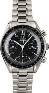 Omega Speedmaster Reduced Automatic Steel Chronograph Black Dial