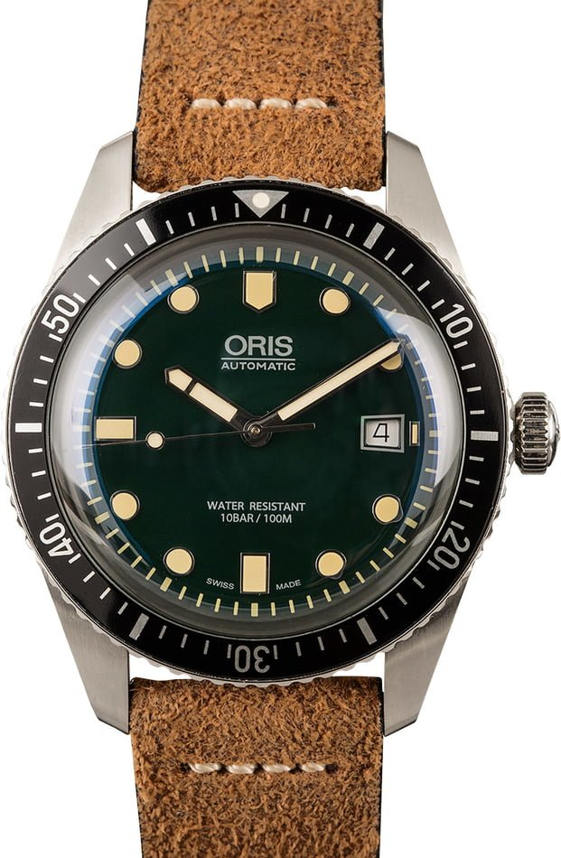 Mens Oris Divers Sixty-Five Green Dial