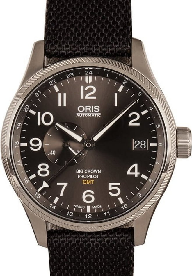 Oris Big Crown Pro Pilot GMT Gray Arabic Dial
