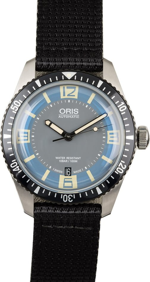 Oris Divers Sixty Five Black Textile Strap