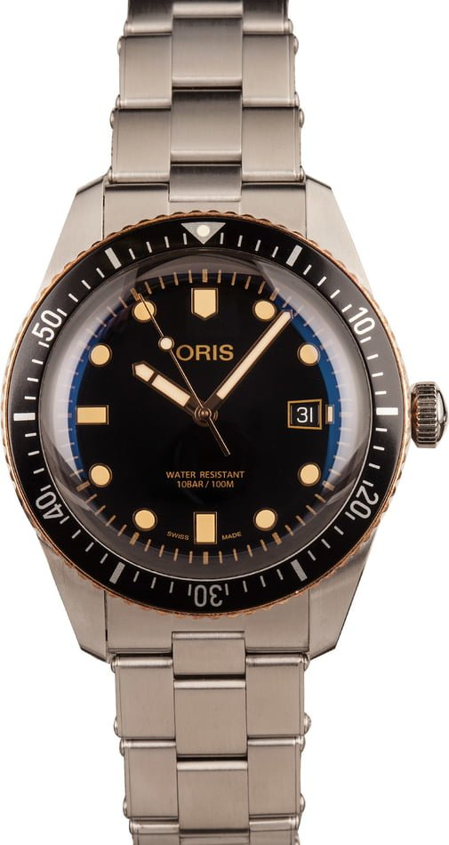 Oris Divers Sixty-Five Stainless Steel & Bronze
