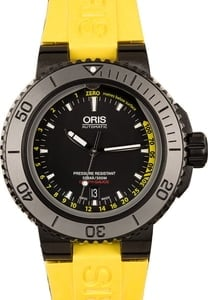 Oris Aquis Depth Gauge Yellow Rubber Strap